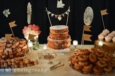 Gourmet donut display by Alisa Lewis Event Design & baked by Erin Blackburn