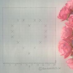 _diagram-bobble-stich-heart by-bautawitch - Virka Ideer Crochet Heart Blanket, Crochet Baby Blanket Free Pattern, Baby Afghan Crochet, Crochet Box, Crochet Lace, Crochet Designs, Crochet Patterns, Heart Diagram, Crochet Baby Costumes