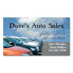 Used Car Salesman Business Card Templates. I love this design! It is available for customization or ready to buy as is. All you need is to add your business info to this template then place the order. It will ship within 24 hours. Just click the image to make your own!