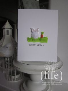 easter wishesquilled easter bunny by APaperLifeOriginals on Etsy, $7.50
