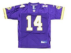 Minnesota Vikings Mens NFL Football Jersey Brad Johnson 14 White XLarge -- Check this awesome product by going to the link at the image.