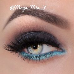 .@maya_mia_y   Smokey with a pop of turquoise For this look I used pigments from @mahyamine...   Webstagram - the best Instagram viewer