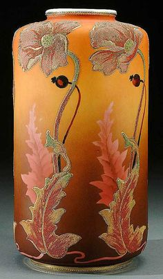 Lot: 9: A NIPPON CORALENE DECORATED PORCELAIN VASE circa, Lot Number: 0009, Starting Bid: $1,200, Auctioneer: Jackson's Auction, Auction: Important Nippon Porcelain Auction, Date: August 13th, 2005 EDT