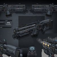 Star Citizen - laser rifle done for Cloud Imperium Games by rmory studios