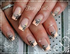 Zalm color nail Art                                                       �