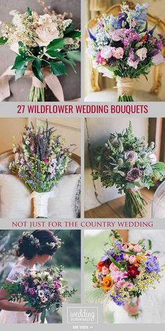 39 Wildflower Wedding Bouquets Not Just For The Country Wedding ♥ Many brides think that wildflower wedding bouquets are only for the boho brides, we disagree! Get ready to fall in love with this beautiful ideas. #wedding #bride #weddingbouquets Cheap Wedding Flowers, White Wedding Bouquets, Bridal Bouquets, Wedding Decorations On A Budget, Wedding Themes, Wedding Ideas, Trendy Wedding, Budget Wedding, Bodas Boho Chic