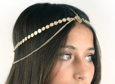 CHAIN HEADPIECE chain headdress head  SALE reg 25 por LovMely, $15.00