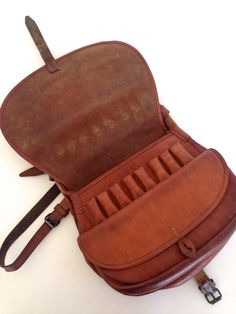 Vintage Leather Bag . Artist / Tools Carrying Satchel by VintageCommon on Etsy