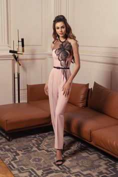 Papilio 2019 Pink Jumpsuits Prom Dresses Halter Neck Black Lace - Papilio 2019 Pink Jumpsuits Prom Dresses Halter Neck Black Lace Source by - Straps Prom Dresses, Prom Dresses For Teens, Pink Prom Dresses, A Line Prom Dresses, Beautiful Prom Dresses, Nice Dresses, Jumpsuit Prom Dress, Pink Jumpsuit, Evening Gowns With Sleeves