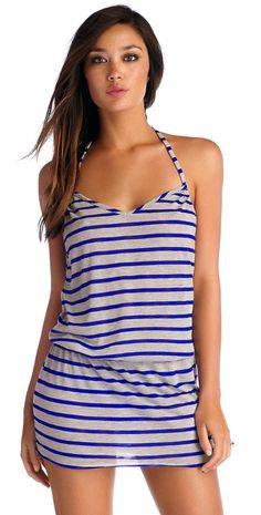 96ae79d204 CA by Vitamin A 2014 Coachella #Dress in Heather #Stripe Electric #Blue  45DHBH