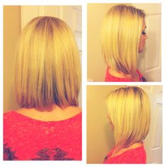 Long bob I just got done. A-line cut