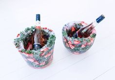Looking to create something visually striking for your next party? Try this DIY frozen ice bucket Looks tricky to do, but surprisingly was very easy to make Gennaro Contaldo Recipes, My Kitchen Rules, Freeze Ice, Holly Berries, Mortar And Pestle, Creative Food, Creative Crafts, Diy Crafts, Bottle Holders