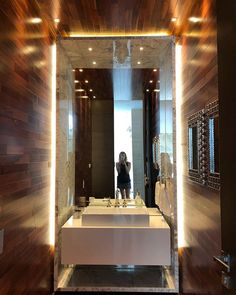Powder room perfection. This one was too good not to share. Wood  stone and lighting on point. #bathroom #powderroom #lilybrowntravels #marble #wood not a #mirrorselfie #floatingvanity #decor #instadaily #inspiration #interiordesign #bolivia #interiors - Architecture and Home Decor - Bedroom - Bathroom - Kitchen And Living Room Interior Design Decorating Ideas - #architecture #design #interiordesign #diy #homedesign #architect #architectural #homedecor #realestate #contemporaryart #inspiration #creative #decor #decoration