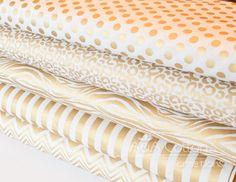 Metallisches Gold Print, Quilting Gewicht Textil, Heavy-Metal-Kollektion von JACK! E - Jacqueline Savage Mcfee für Camelot-Designstudio. -Diese
