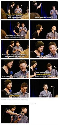 when Jensen joined twitter LOL awwwww poor Jensen ^_^, but he got help from his bestfried Jared and all the SPN fans at #Vancon 2014    Jensen Ackles #twitter    Jared Padalecki #Vancon14