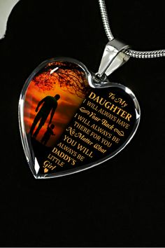 c90fe338c76 Beautiful To My Daughter Necklace From Dad - Best Gift for Birthday