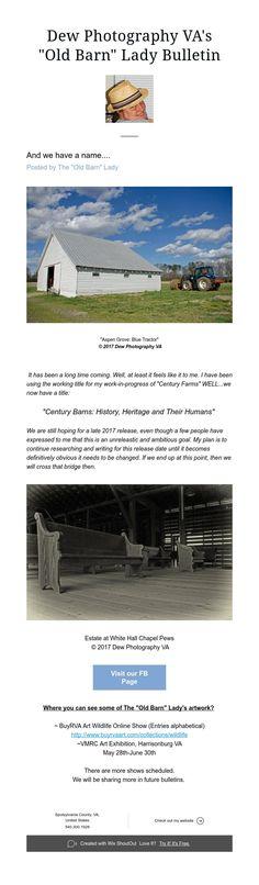 """""""Old Barn"""" Lady Bulletin: March 20th"""