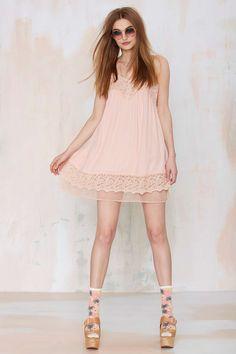 Joa Sweet Emotion Lace Slip Dress