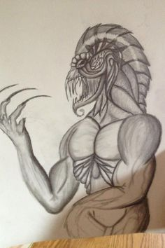demons drawings in pencil  | Demon Tattoo Design Pencil Drawing