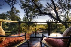 You'll be surrounded by the untamed wilderness when you stay at Camp Moremi in Botswana