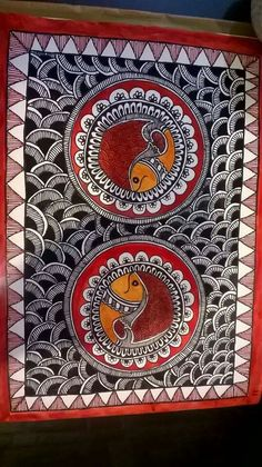 58 Ideas For Craft Canvas Fabrics - Fabric Crafts Madhubani Paintings Peacock, Kalamkari Painting, Peacock Painting, Madhubani Art, Indian Art Paintings, Fabric Painting, Mandala Drawing, Mandala Art, Gond Painting