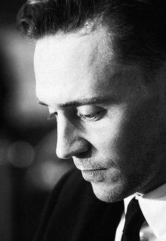 Tom Hiddleston. Black and White.