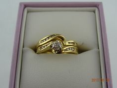 Gold Pre Loved 18ct Solid Yellow Gold 9Diamond Ring & 8Diamond Eternity Band (eBay item 320921909831 end time 15-Jun-12 19:15:50 AEST) : Jewellery Watches