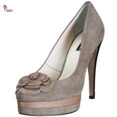 Pumps-Damen, Chaussures Compensées Femme, Gris, 40 EUBelmondo