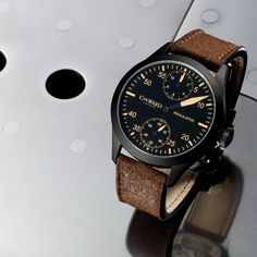 C8 Regulator - Vintage Edition with Brown leather strap