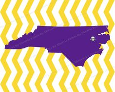 Personalized State of North Carolina Print ECU NC State UNC Print Your Own