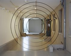 Anamorphic art by Felice Varini. A literal exploration of architectural moments.