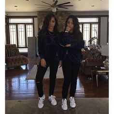 SiAngie Best Friend Goals, Siangie Twins, Baddies, Summer Outfits, Cute Outfits, Outfit Of The Day, Ootd, Bff, Squad
