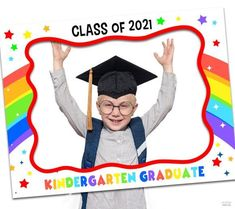 Photos are what help us keep our memories alive so the more you take of your child special day the better. Make them even better with this colorful photo booth frame. You can bet the photos will look incredible! See more party ideas and share yours at CatchMyParty.com Pre K Graduation, Kindergarten Graduation, Graduation Pictures, Graduation Ideas, Party Photo Frame, Photo Frame Prop, Kindergarten Photos, Preschool Kindergarten, Country Themed Parties