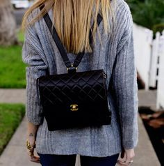 Fancy - Chanel Quilted Backpack
