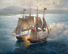 Patrick O'Brien. USS Hornet vs. HMS Peacock, 1813. J. Russell Jinishian Gallery, Inc.