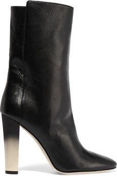 Oscar de la Renta Henra leather boots   THE OUTNET