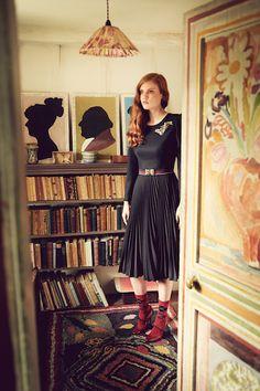 "AW 16/17 ""The Brits"" Catalogue  ""Piccadilly Dress, black""  http://shop.lenahoschek.com/"