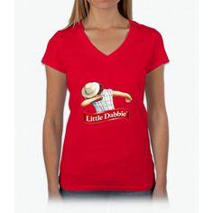 little dabbie Womens V-Neck T-Shirt