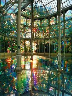 Room of rainbow, crystal palace, Madrid