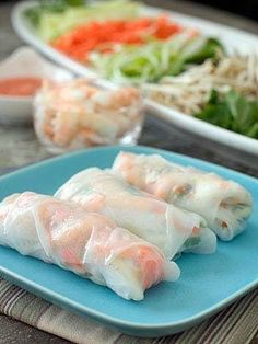Shrimp Lettuce Wraps and Spring Rolls // Who does want these? #orange #spring #recipe