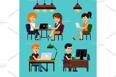 People sitting on chair at table #monitor #computer
