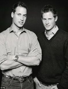Princes William and Harry by Fergus Greer