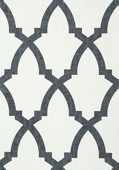 Anna French Brock Trellis Black and White Wallpaper - - Seraphina Collection Black And White Wallpaper, Black And White Background, Anna French Wallpaper, French Pattern, Trellis Wallpaper, Arabic Pattern, French Classic, Moroccan Pattern, Funky Home Decor