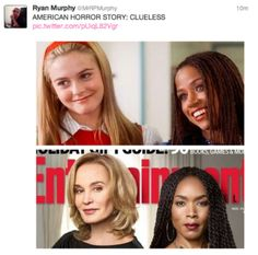 Jessica Lange and Angela Bassett as Cher and Dionne from Clueless Cher And Dionne, American Horror Story 3, Ryan Murphy, Clueless, Thing 1 Thing 2, I Movie, Tv Shows, Entertaining, Ahs