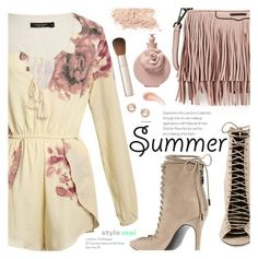 """""""Summer Floral"""" by black-fashion83 ❤ liked on Polyvore featuring Kendall + Kylie, Rebecca Minkoff, Valentino, By Terry, Kabella Jewelry, NARS Cosmetics, polyvoreeditorial, polyvoreset and stylemoi"""