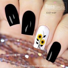 Chic Nails, Stylish Nails, Trendy Nails, Best Acrylic Nails, Summer Acrylic Nails, Sunflower Nail Art, Manicure Nail Designs, Acryl Nails, Cute Toe Nails