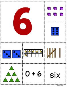 This easy prep activity includes a large number card for each number 1 – 10 and eight smaller cards. The smaller cards include ten frames, base ten cubes and ten stick, dice, number word, an equation, set of triangles, and tally marks. Follow up the sorting activity with recording sheets so students can show their understanding. Annie Jewell.