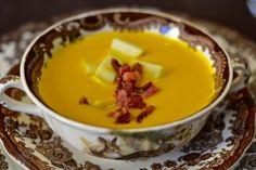 Crema de calabaza y manzana Fondue, Pudding, Cheese, Ethnic Recipes, Desserts, Blog, Soups, Homemade, Cook