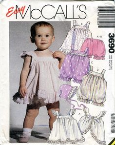 McCalls 3690 Sewing Pattern  Infants Sundress by KenyonBooks