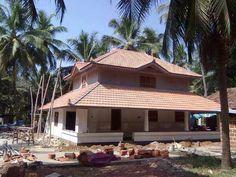 Elevation-0135 Model House Plan, New House Plans, Dream House Plans, Traditional Exterior, Traditional Design, Traditional House, Tropical House Design, Kerala House Design, Indian Home Design